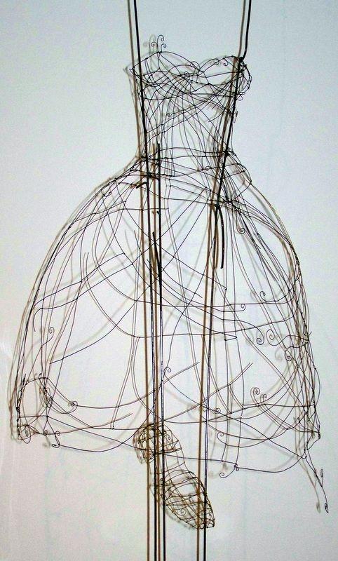 Cinderellas Ball Grown & Slipper - Wire Art by Nicole Bolze ORIGINALS