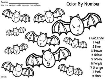 Color By Number Code Fall / Halloween / Turkey by BB Kidz    TpT