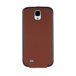 Funda cradle marron Galaxy S4 Samsung Anymode (tapa)