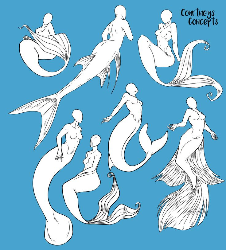 """courtneysconcepts: """"Some more of my MerMay poses. Tried some different brushes, although i think i'll stick with my textured brush. """""""
