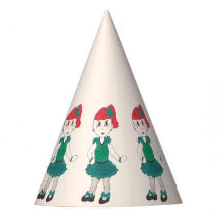 Tap Dancing Girl Dance Recital Costume Teal Green Party Hat - party gifts gift ideas diy customize