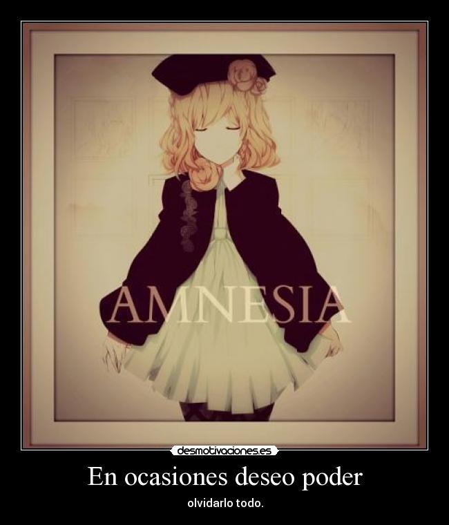 carteles anime harukaze amor amnesia olvidar desmotivaciones