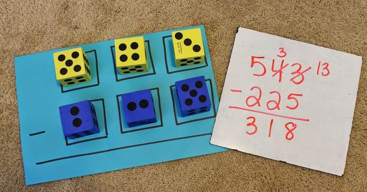 This activity is great for hands on practice for 2nd and 3rd graders struggling with 3 digit subtraction or addition w/ regrouping! ... #mathpracticegames