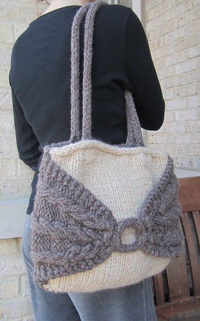 Knitting Pattern Knitting Bag : 198 best images about Crochet and knit bags on Pinterest Free pattern, Cabl...