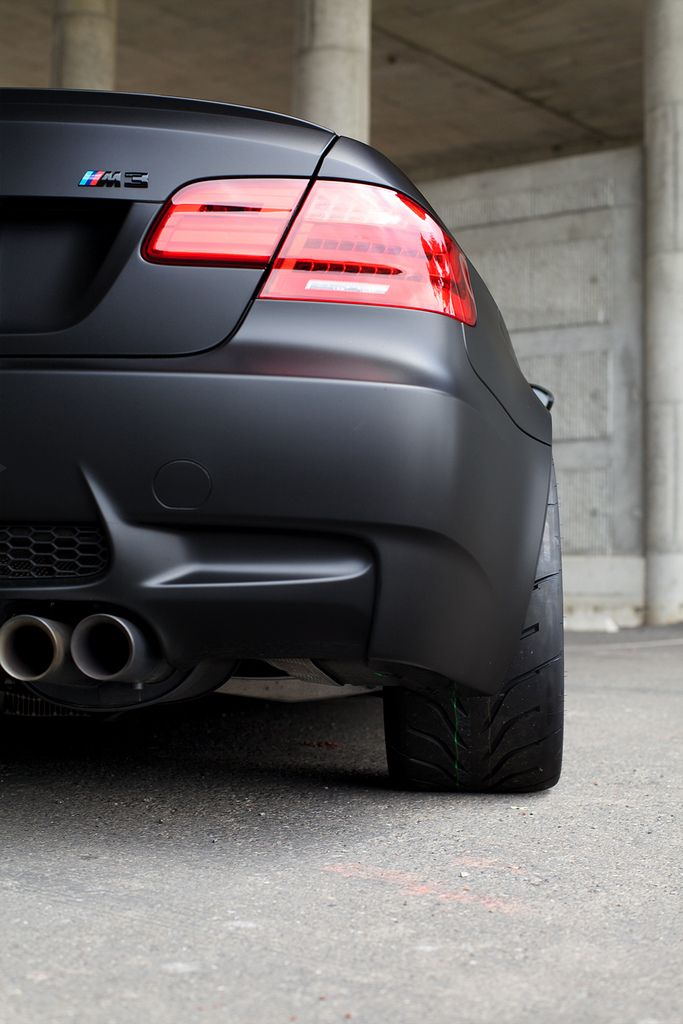 matte black bmw m3 e92. street rocket for the everyday driver.