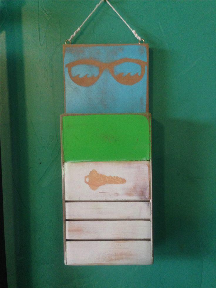 Llavero vintage, materiales reciclados