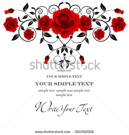 71 best Red and black vector ornaments, invitations and abstract - best of invitation card vector art