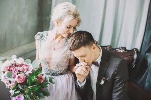 Зимняя свадьба в фиолетовых тонах