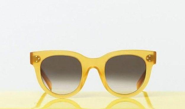 Celine, occhiali giallo canarino