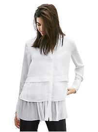 Another Real World white shirt.  The multi-layers get extra points for cool.