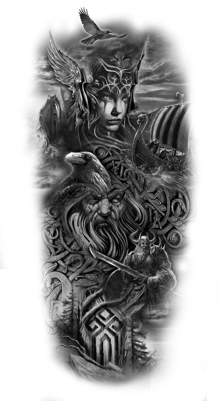 best 25 viking tattoo symbols ideas on pinterest viking. Black Bedroom Furniture Sets. Home Design Ideas