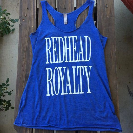 The Redhead Royalty tank tops are now back in stock!
