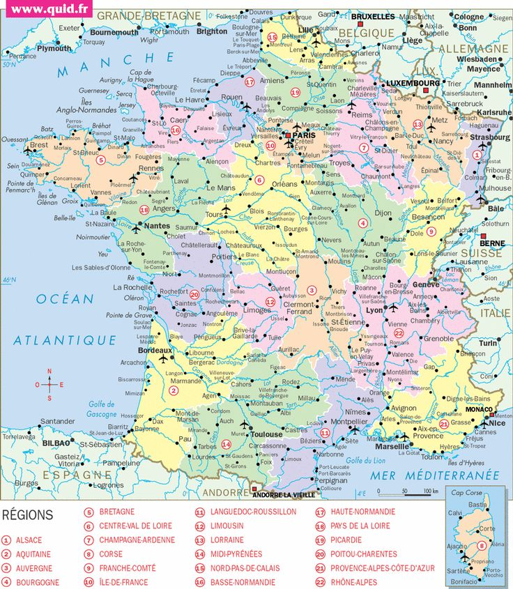Carte de france voyages pinterest for B b france carte