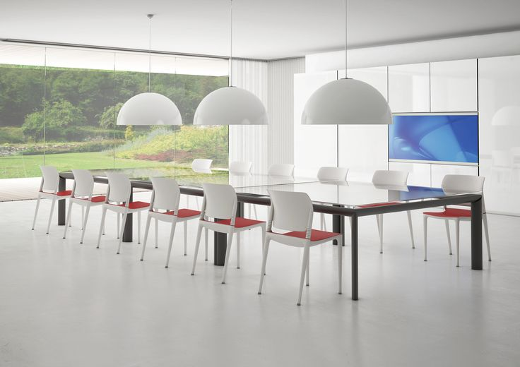 E-motion #chair represents a stylistic revolution in #technology combining a #polypropylene structure with injection air moulding and integrating an innovative device at the seat back allowing the back to flex with the movements of the person sitting. Yes, it's a truly unique product also because it's #patented