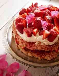 Strawberry Rose Meringue Dacquoise 3 4 Fotor