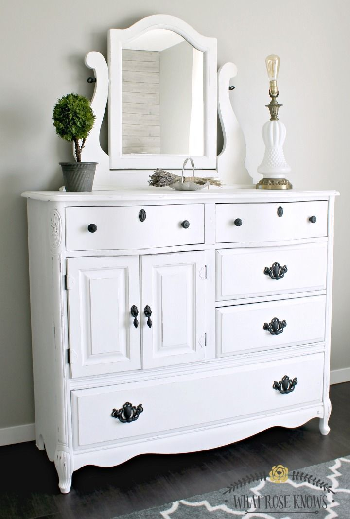 best 20 white painted dressers ideas on pinterest chalk. Black Bedroom Furniture Sets. Home Design Ideas