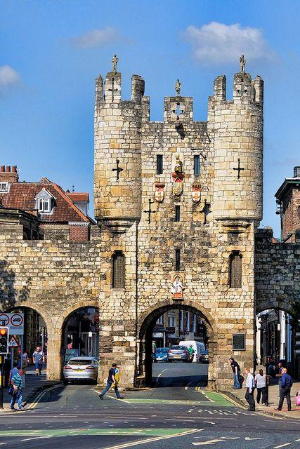 I remember walking under those arches with Lucy...    Micklegate Bar, York, UK by Jeffdalt, via Flickr