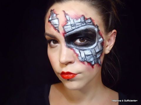 Halloween cyborg make-up