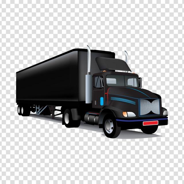 Realistic Black Truck Black Truck Truck Clipart Heavy Truck Png