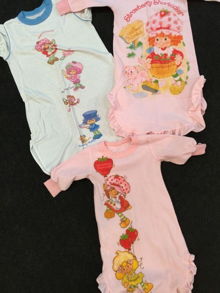 Vintage Clean Strawberry Shortcake Pajamas Collection No Reserve RARE | eBay
