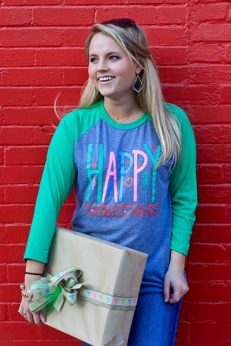 Sweet Southern Sass Boutique HAPPY CHRISTMAS (GREY), 38