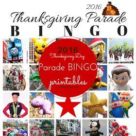 #MacysParade bingo cards for the 2016 Thanksgiving Day parade!
