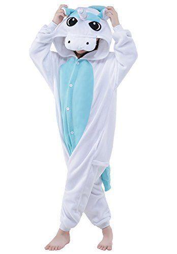 4f725b1797a1 CANASOUR Polyster Kids Unisex Unicorn Cosplay Pajamas 125