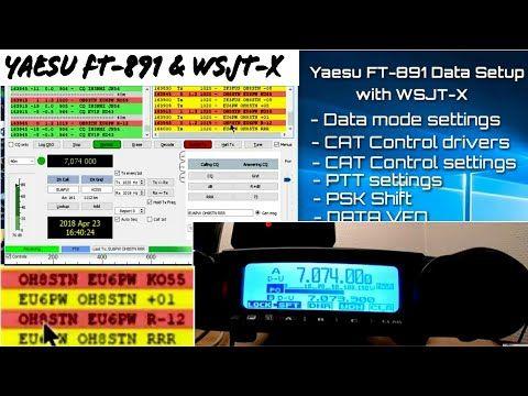 Yaesu FT-891 FT8 WSJT-X Data mode USB CAT control