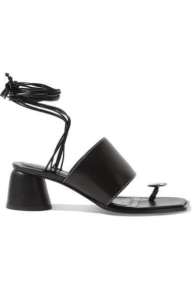 c78a9513e48 Ellery - Embellished Leather Sandals - Black in 2019