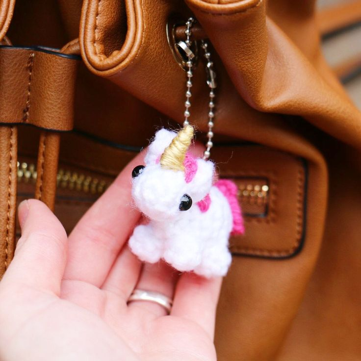 Our baby unicorn plushies make adorable purse accessories don't you think?  Get yours today!