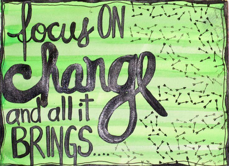 Motivation Monday Art Exercise Focus on Change