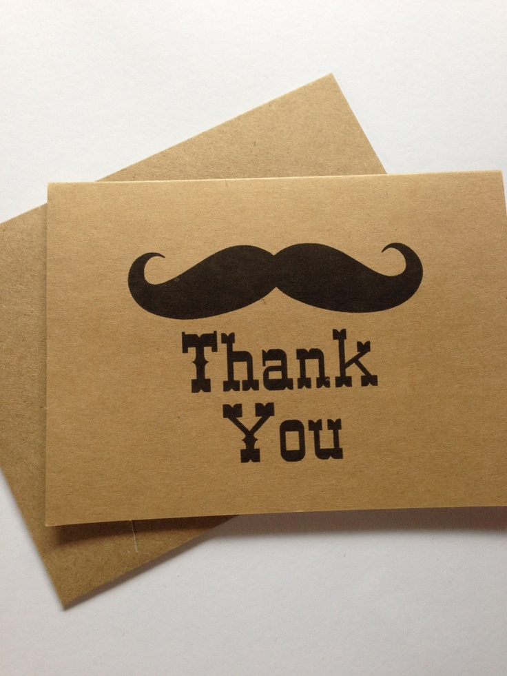 Mustache Thank You Cards Little Man Wedding Birthday Party Baby Shower 10
