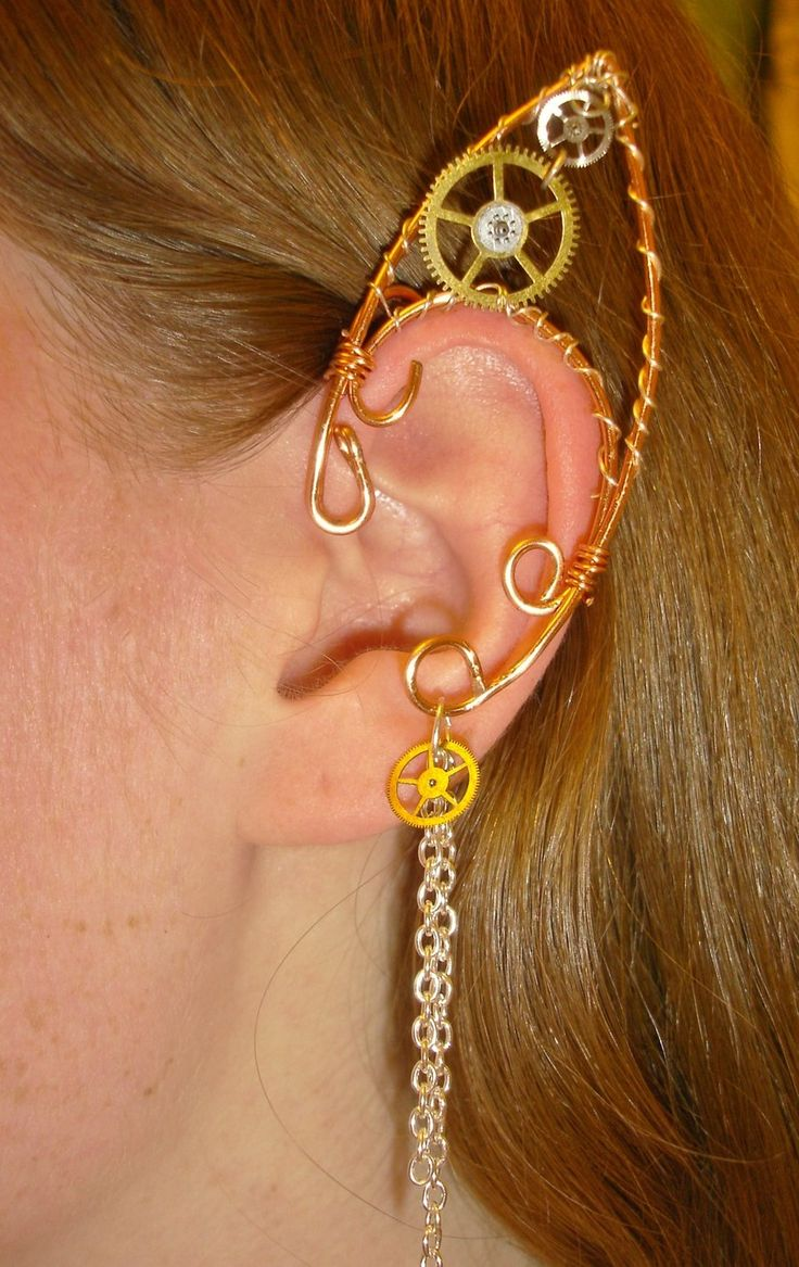 I was just thinking today I needed one of these.  Steampunk Elf Ear Cuff by *Nonconformity777 on deviantART