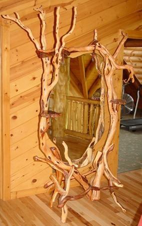 Juniper Bedroom Mirror: Woods Furniture, Bedroom Mirrors, Mirror Mirror, Logs Furniture, Floors Mirror, Bedrooms Mirror, Logs Cabin Bedrooms, Rustic Bedrooms Furniture, Rustic Floors