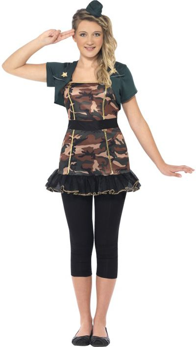 camo costums for tweens | Home > Girls > Teen > Miss Army Girl Costume.