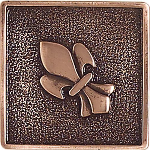 Copper 2 X Fleur De Lis Accent