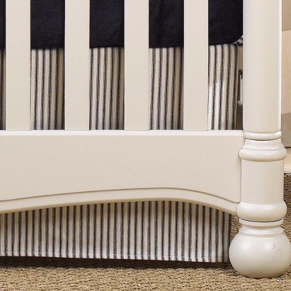 Navy Crib Skirt   Navy Baby Bedding   Baby Boy Nursery   Liz and Roo Fine Baby Bedding