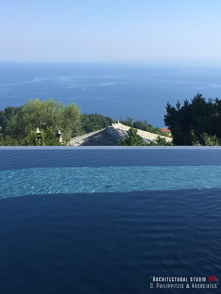 Details of a residential mansion _ swimming pool | view | stone mansion | Pelion | Sporades _ visit us at: www.philippitzis.gr