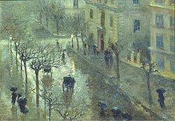 Tempo piovoso, Pratella Attilio, olio su tela, cm.33x44,1912 ca.
