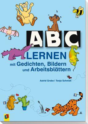 ABC lernen mit Gedichten, Bildern und Arbeitsblättern ++ #Arbeitsmaterial für Lehrer an Grundschulen und Förderschulen, Fach: Deutsch, Klasse: 1-2 ++ Jedes ABC-Gedicht gibt es in der Langversion zum Vorlesen und als #Arbeitsblatt in der verkürzten Version + Die #Kurzgedichte können auch als einfache #Lesetexte eingesetzt werden + Zu jedem ABC-Gedicht gibt es Arbeitsblätter mit Bildergeschichten als Mal- oder Schreibanlass, mit Anlaut- und passenden #Konzentrationsübungen