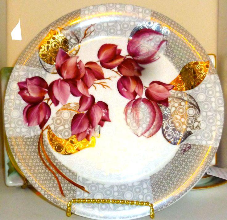 Mejores 704 im genes de porcelana 1 en pinterest pintura - Platos decorativos modernos ...