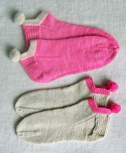 Whit's Knits: Pom Pom Peds - The Purl Bee - Knitting Crochet Sewing Embroidery Crafts Patterns and Ideas!