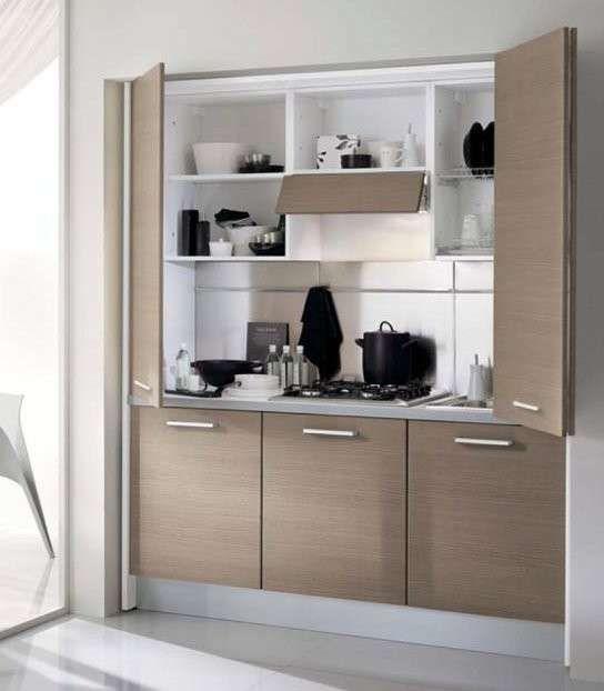 18 best cucine per piccoli spazi images on pinterest apartment design environment and freezers - Armadio cucina monoblocco ...