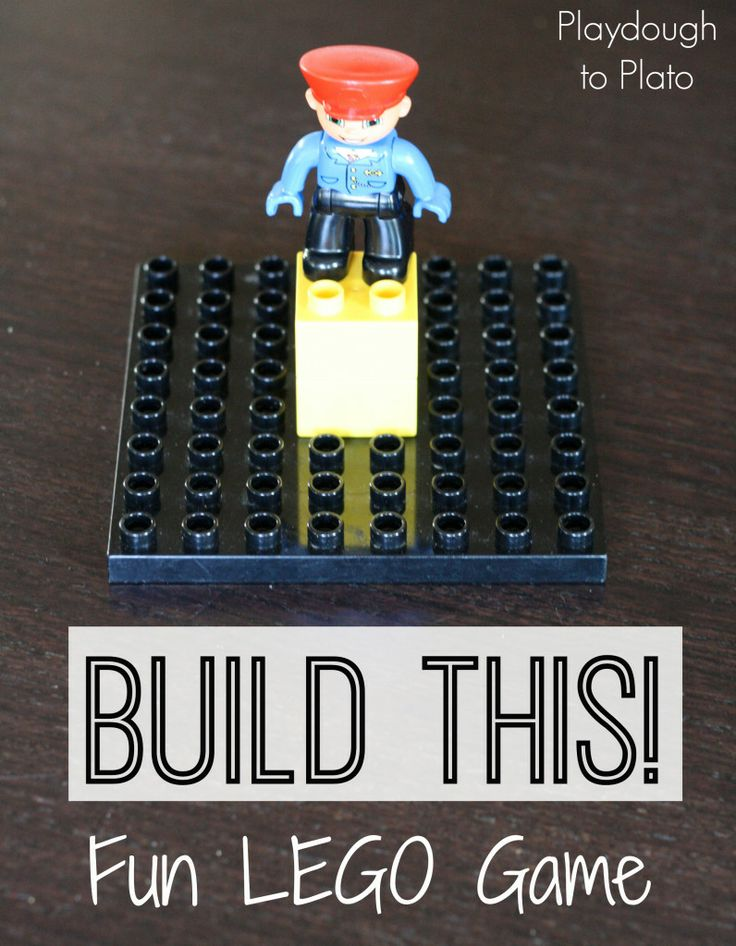 #LEGO Game: Build This to learn about top, behind, left & right.- Playdough To Plato