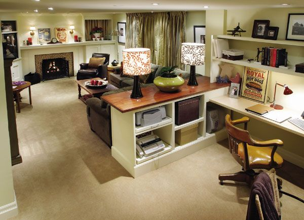 Basement this is awesome quilting studio upgrade ideas pinterest basement ideas - Home office living room ideas ...