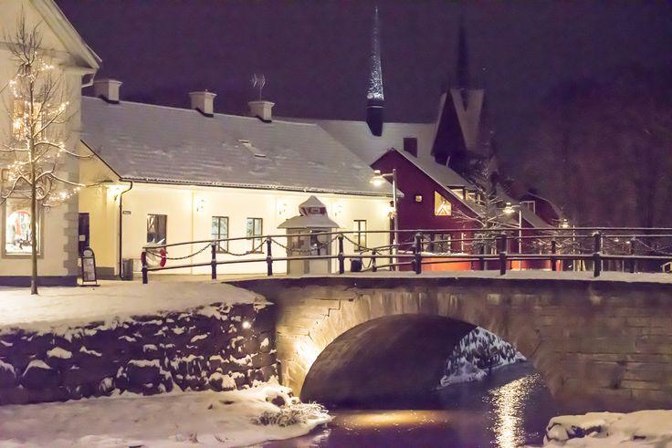 Winter evening in Söderköping