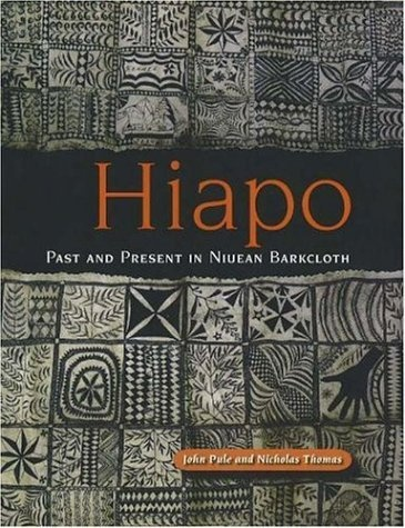 Hiapo: Past and Present in Niuean Barkcloth by Nicholas Thomas. Tapa, or barkcloth, is called 'hiapo' in the language of Niue Island in central Polynesia. The painted hiapo of Niue is a remarkable art that until now has been obscure to all but a few specialists. Hiapo have distinct cultural patterns.