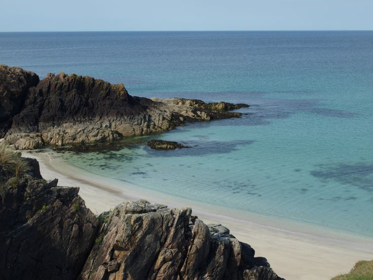 Clachtoll Beach - a stunning white sand beach just off the Drumbeg Road in the North West Highlands