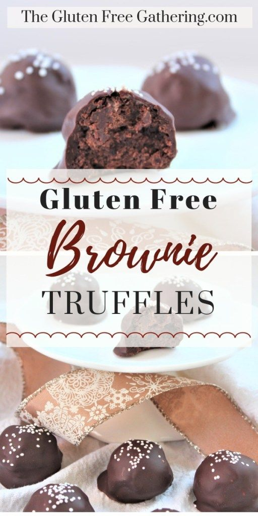 Gluten Free Brownie Bite Truffles – The Gluten Free Gathering – A two bite, glut…