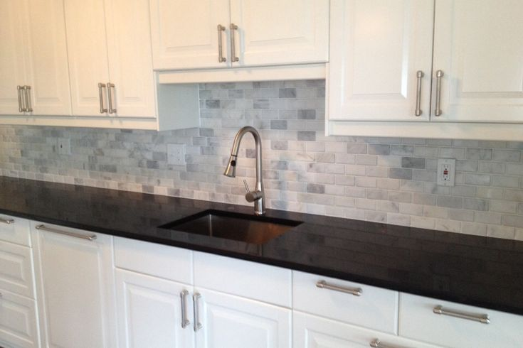 Sun City Center Florida Subway Marble Backsplash Kitchen White Subway Tile Backsplash